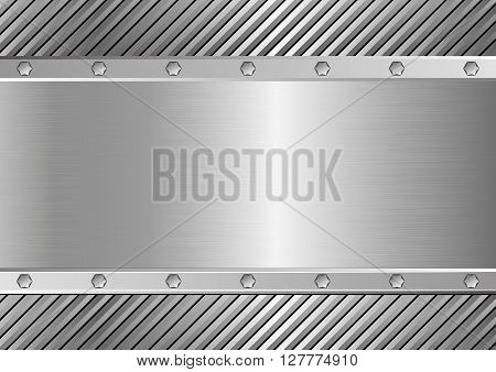 metal background with copy space - vector illustration