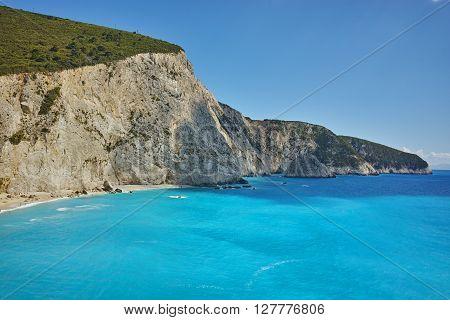 Amazing view of Porto Katsiki Beach, Lefkada, Ionian Islands, Greece