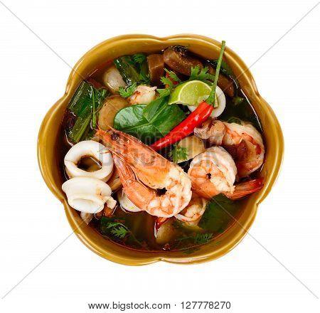 Thai Food Tom Yum Goong Isolated