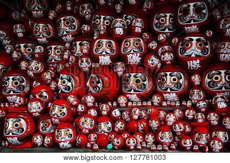 Osaka Japan - November 23, 2010 : Daruma or red-painted good-luck doll