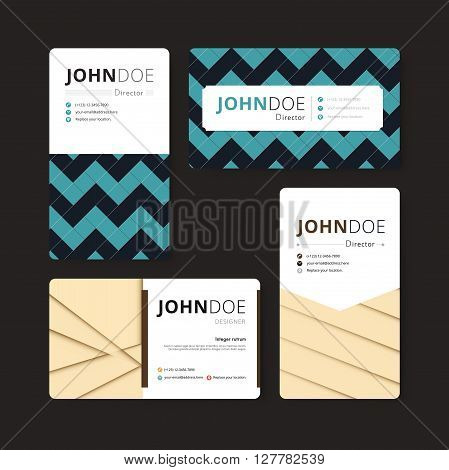 Geometry Business Card Template. Cover, Flyer, Leaflet Template. Corporate Template. Geometric Conce