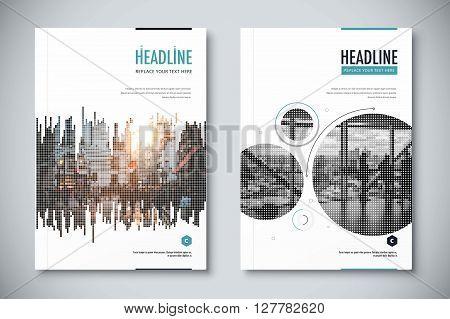 Corporate Annual Report Template Design. Corporate Business Document Design. Vector Illustration.