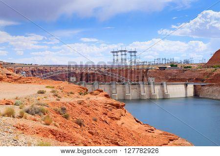 Glen Canyon Dam near Page at the colorado river.