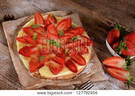 Homemade Strawberry Tart