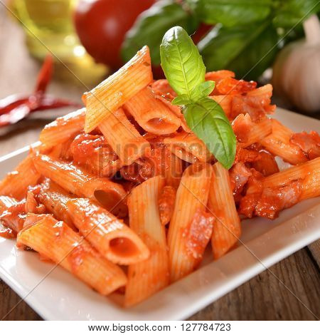 Penne Pasta With Hot Chili Sauce Arrabiata
