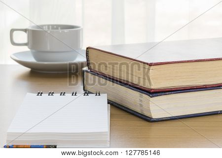 Note Pad Open Blank Page