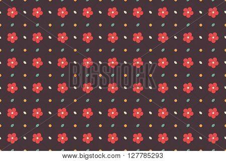 Flower Seamless Pattern Background. Flower Pattern Background. Vector Illustration.