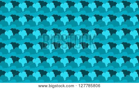 Cloud Seamless Pattern Background. Cloud Pattern Design. Vector Stock.