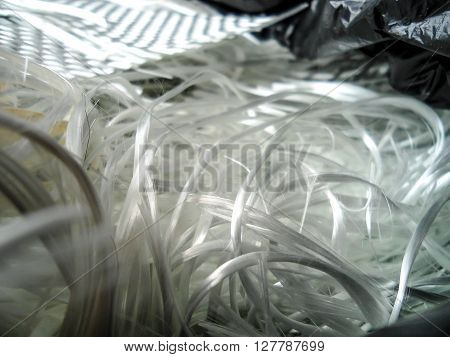 White fiber glass composite raw material background