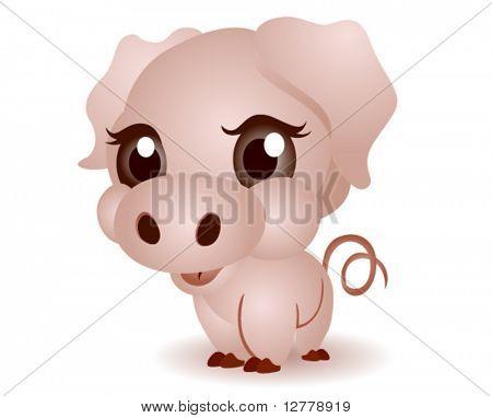Cerdos jóvenes (cochinillo) - Vector