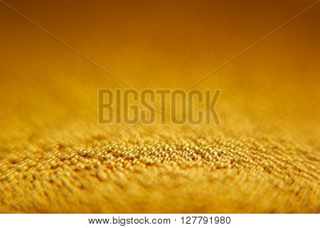 Abstract sparkling gold background with gold balls. Background. Texture. ** Note: Shallow depth of field