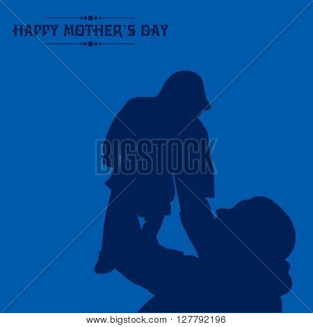 Creative Illustration of Mothers Day greeting card