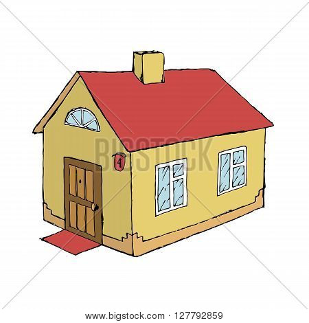 House vector stock illustration. Isolated on white background