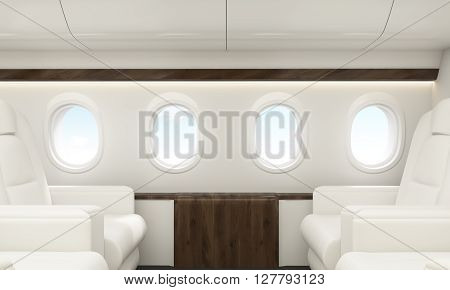 Portholes In Airplane Interior
