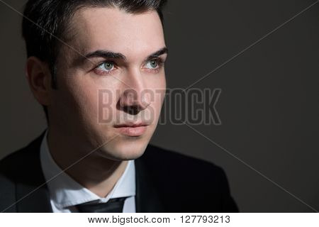Businessman Portrait Looking Away
