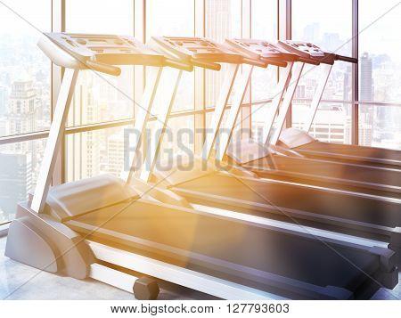 Treadmills Toning Side