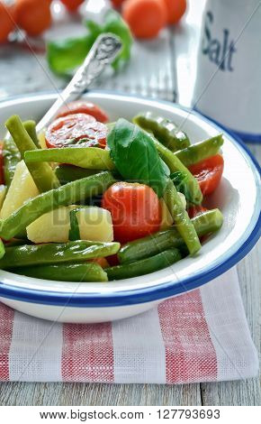 New Potato And Green Bean Salad Wish Balsamic Vinaigrette