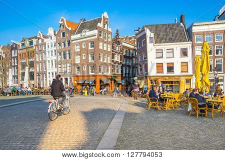 The City Center Of Amsterdam In Netherlands