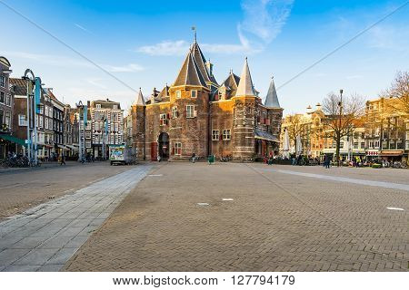 The New Market(nieuwmarkt) City Center In Amsterdam, Netherlands