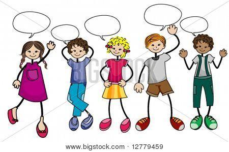 Dibujos infantiles de niños conversando - Imagui