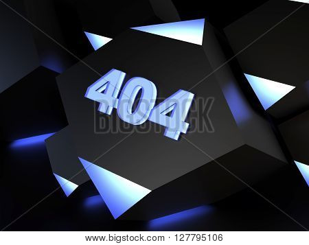 Error 404 - page not found - computer generated image (3D render)
