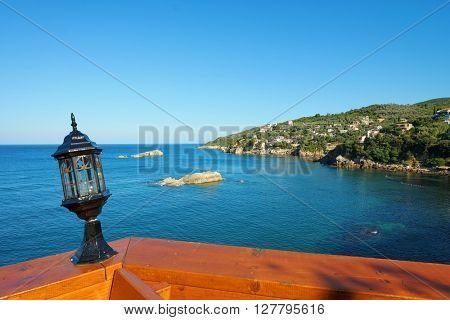 Ulcinj rocky coast view, Montenegro
