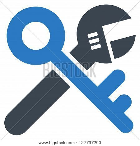 Security Tools vector icon. Style is bicolor flat icon symbol, smooth blue colors, white background.