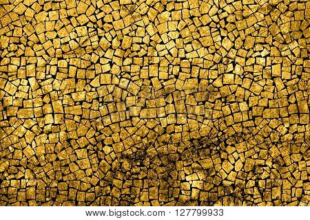 Texture Of Gold Marble Slab Macro Mosaic Styled