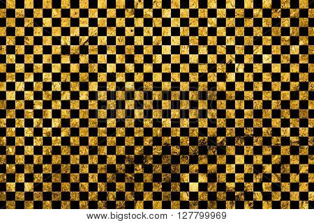 Texture Of Gold Marble Slab Macro Black Squares Styled