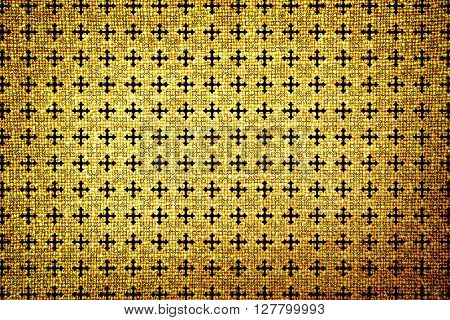 Old Brown Cloth High Contrasted Texture Cross Ornamental Styled