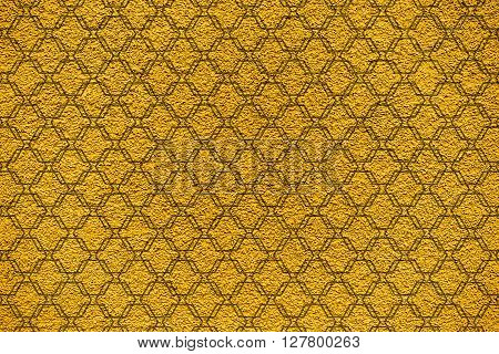 Golden Revetment Wall Putty Macro Texture Background Ornamental Styled