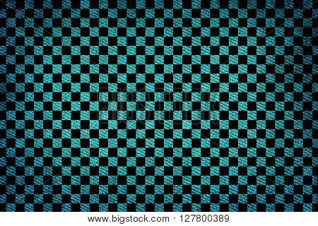 Turquoise Fabric Woven Texture High Contrasted With Vignetting Effect Macro Background Square Styled