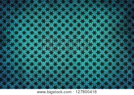 Turquoise Fabric Woven Texture High Contrasted With Vignetting Effect Macro Background Stars Styled