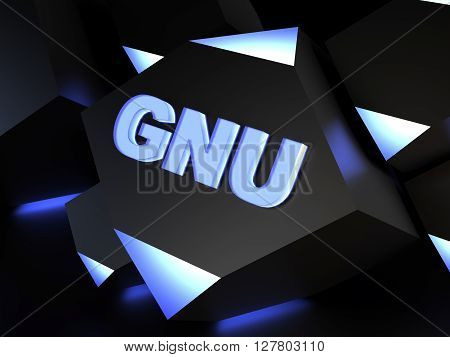 GNU - free software  - computer generated image 3D render