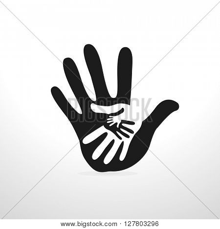 hand helping illustration background