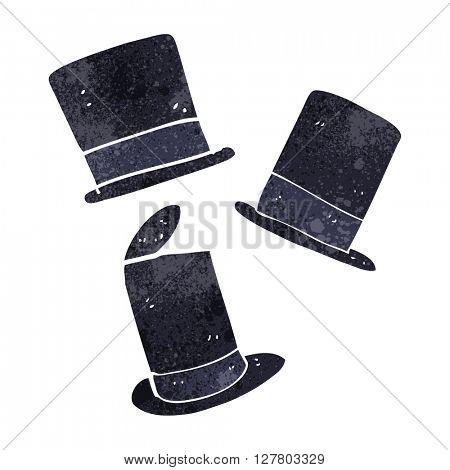 freehand retro cartoon top hats