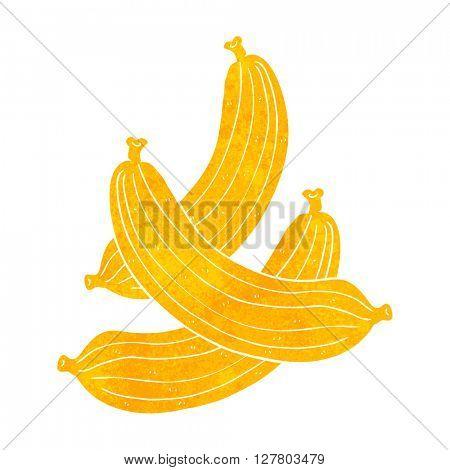 freehand retro cartoon bananas