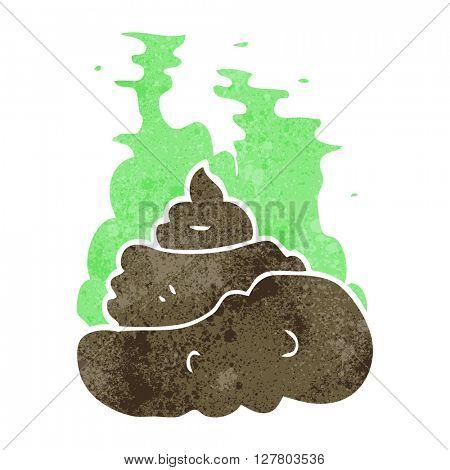 freehand retro cartoon gross poop