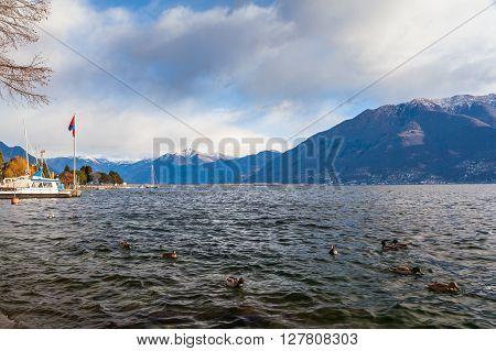 Beautiful View Of Maggiore Lake