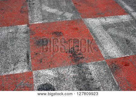 Texture of Race Asphalt and Curb on Monaco Grand Prix Street Circuit