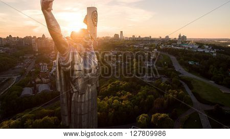 Monumental statue of the Mother Motherland devoted the Great Patriotic War. Kiev, Ukraine