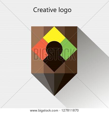 dynamic, vector, creative, pencil, facet, logo design, signs and symbols