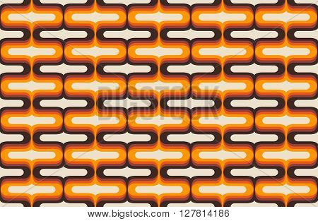 Vector illustration of abstract wallpaper from the seventies