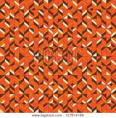 Vector illustration of vintage geometric background with the colors of the seventies