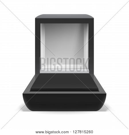 Open box for jewelry on white background