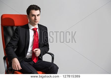 Caucasian Male On Chair