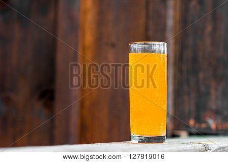 Juice On The Wooden Surface