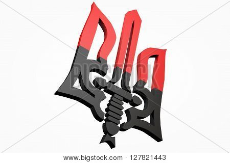 3D model the emblem of the Right sector