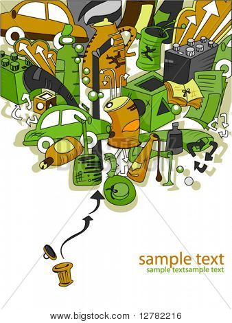 Recycling Design - Vector