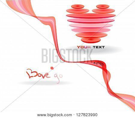 Pink abstract heart simbol. Vector illustration EPS10